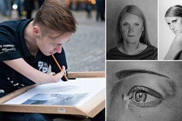 Mariusz Kedzierski No Arms Realistic Portraits
