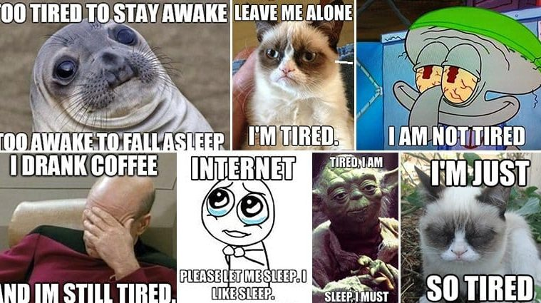 Memes About Being Tired