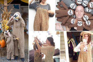 Mom Makes Matching Sloth Onesies