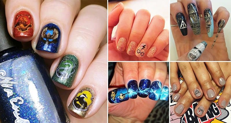 12 awesome nail designs inspired by harry potter prinsesfo Choice Image