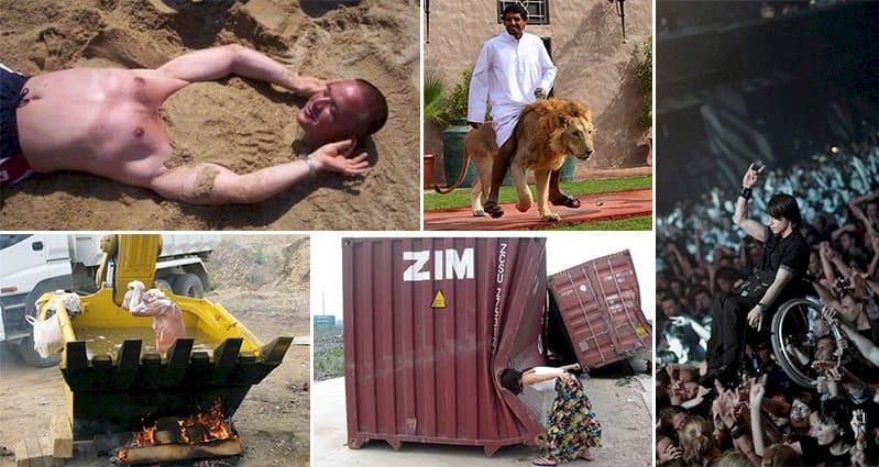 13 Bizarre Photos Of People Doing Strange Things