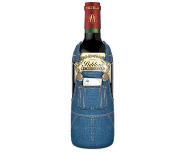 Overalls Wine Bottle Cover case