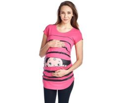 Peeking Baby Maternity T-Shirt