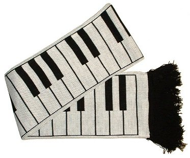 Piano Keys Scarf warm
