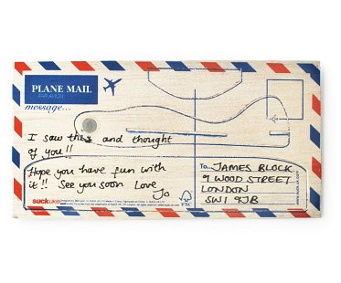 Postcard Aeroplane wood