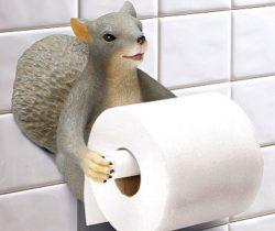 Squirrel Toilet Paper Holder