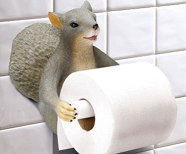 Toilet Paper Holder : Squirrel toilet paper holder