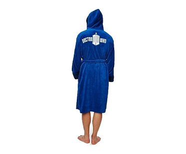 Tardis Fleece Robe back