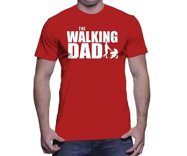 The Walking Dad T-Shirt red