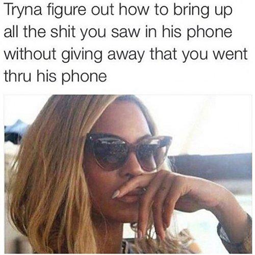 Through His Phone