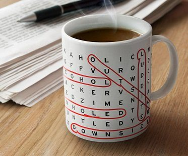 Word Search Mug