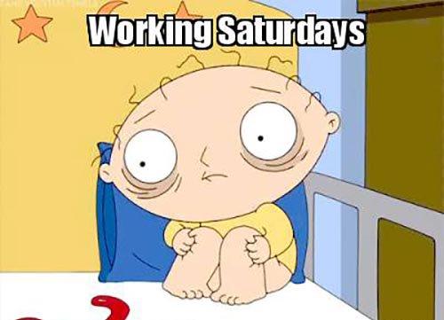 Working Saturdays