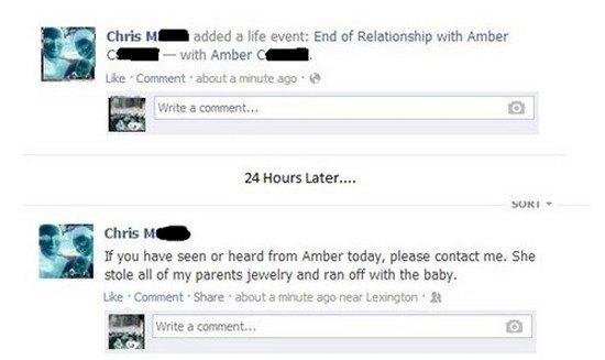 amber facebook status