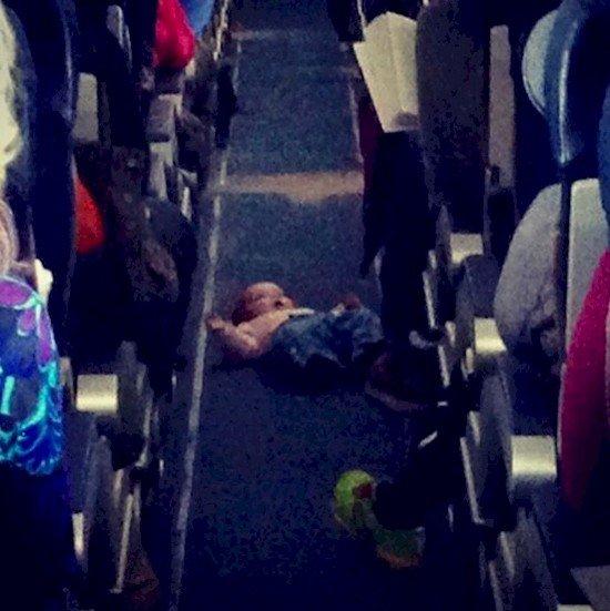 baby aisle plane