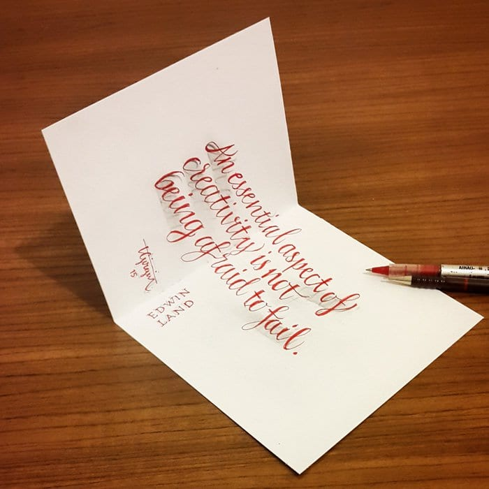 calligraphy-card