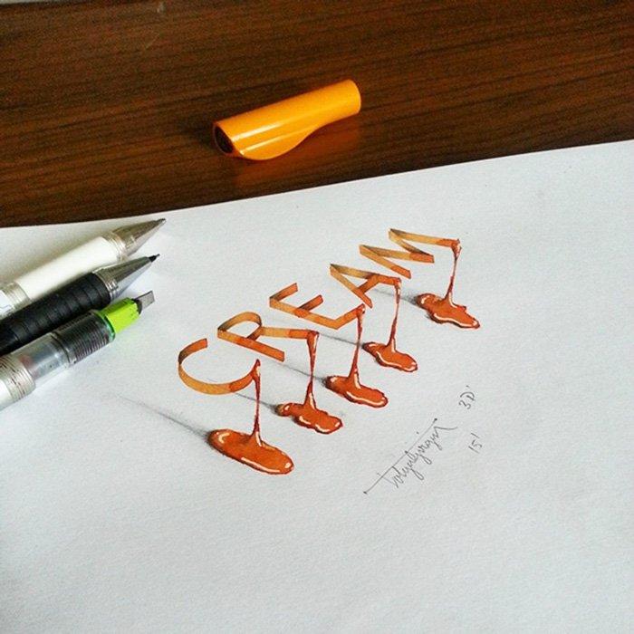 calligraphy-cream