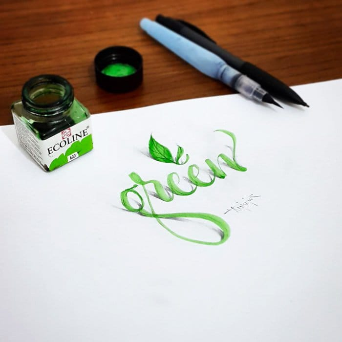 calligraphy-green