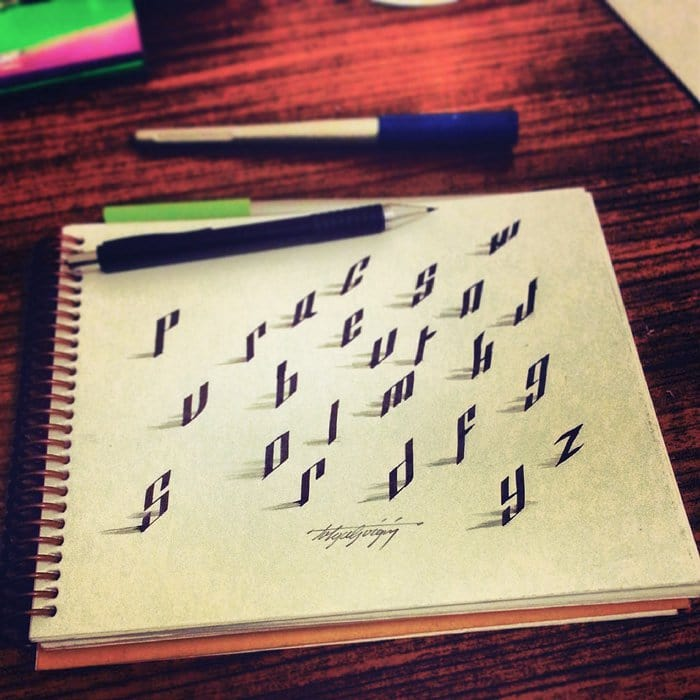 calligraphy-letters