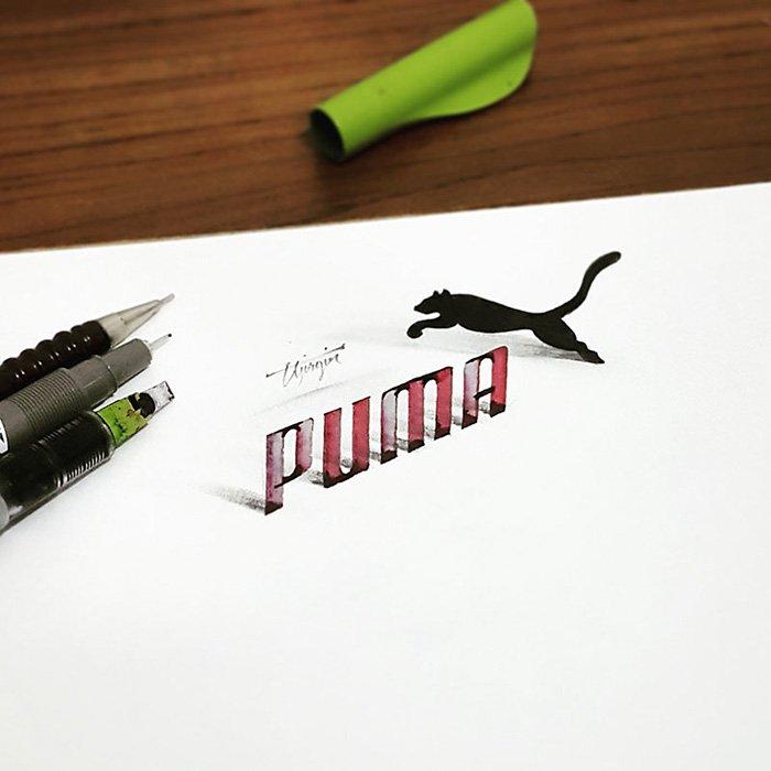 calligraphy-puma