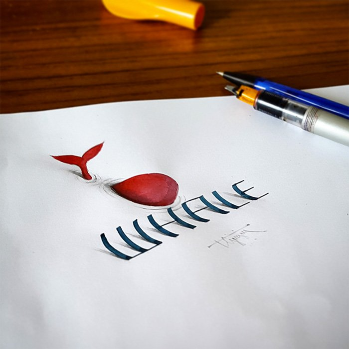 calligraphy-whale