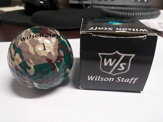 camo golf ball