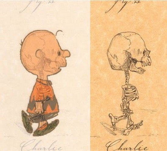 charlie brown skeleton