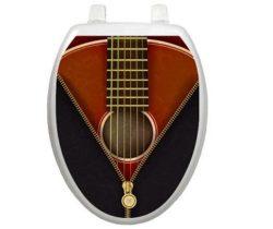 classic guitar toilet decal