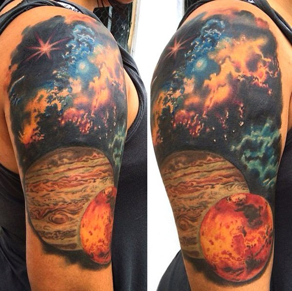 Space Tattoo Bright Colorful Space: 16 Stunning Colorful Tattoos That Will Make You Jealous