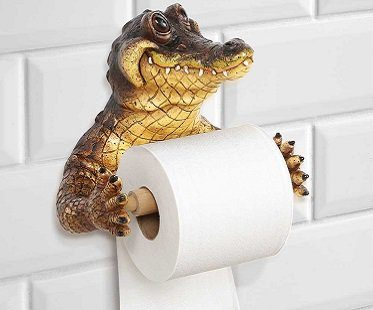 crocodile toilet paper holder