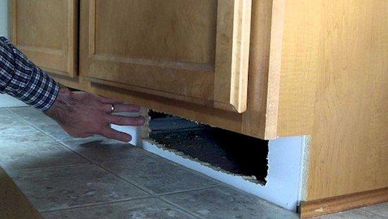 cupboard hiding spot