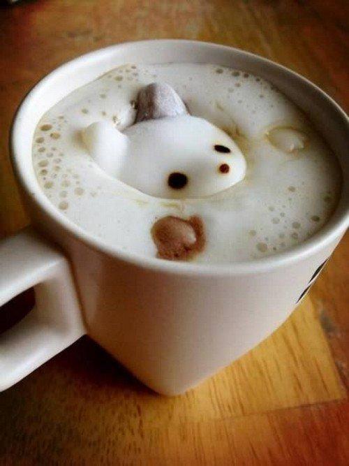 cute creature latte