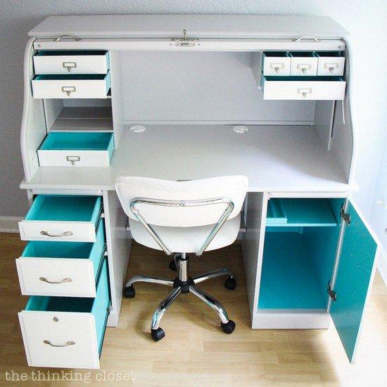 desk blue inside