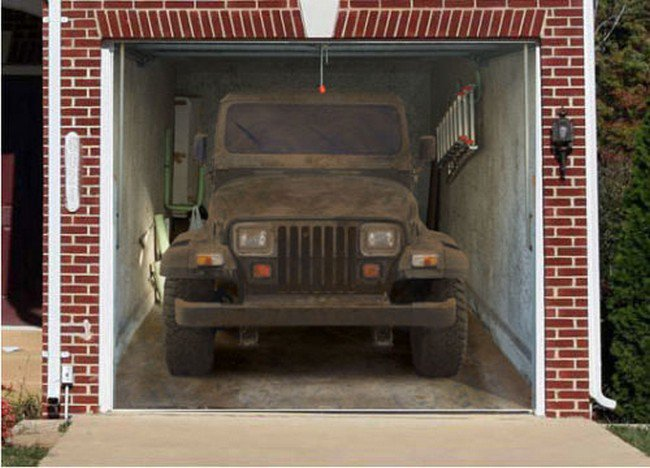 dirty jeep garage