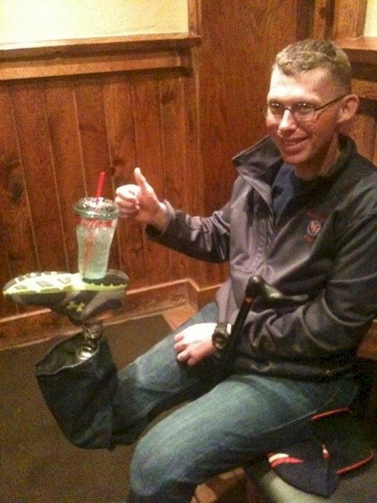 false leg drink