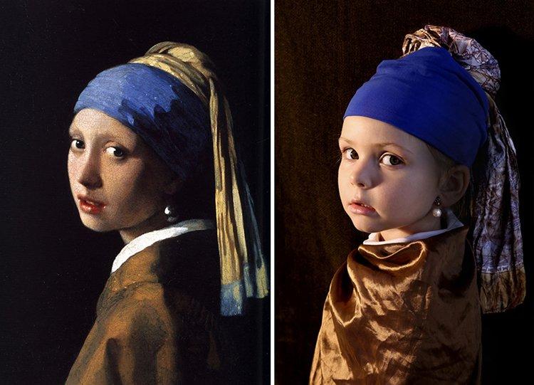 Famous Paintings Recreated Vermeer