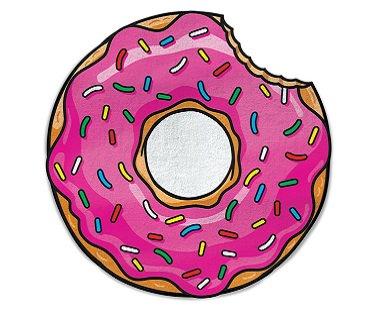 giant donut beach blanket pink