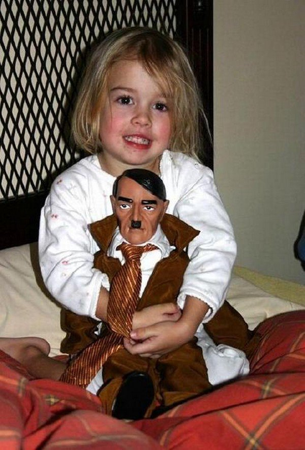 girl hitler doll