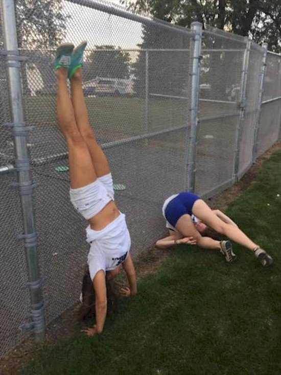 girls handstands