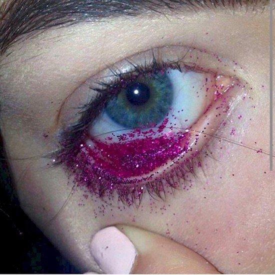 glitter in eye