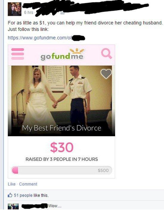 gofundme divorce