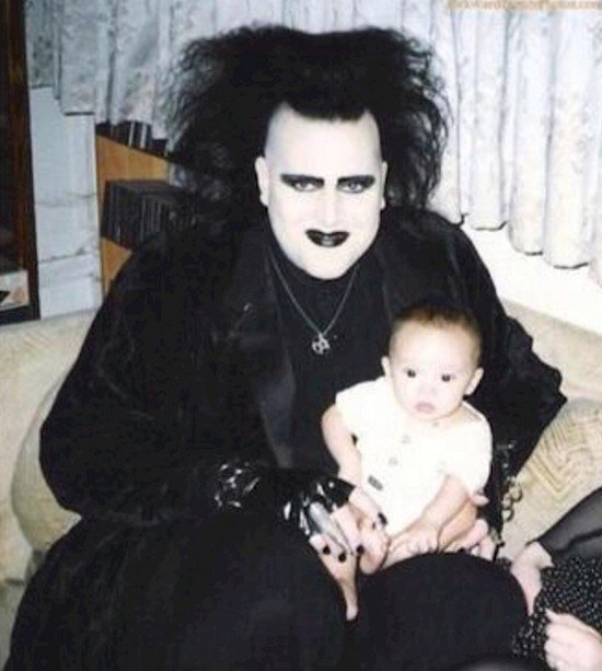 goth with baby