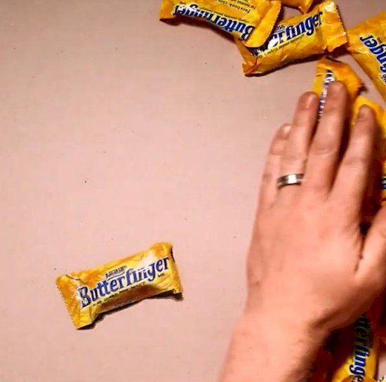 hand butterfingers