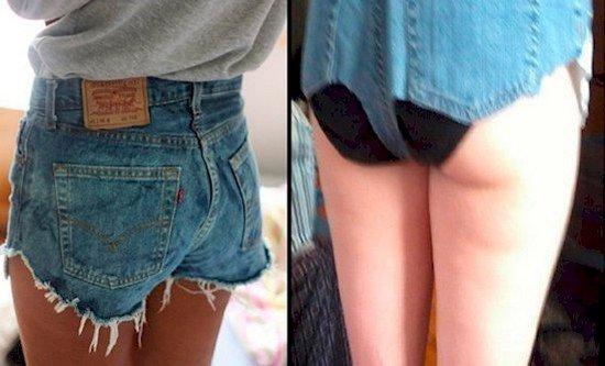 jean shorts fail