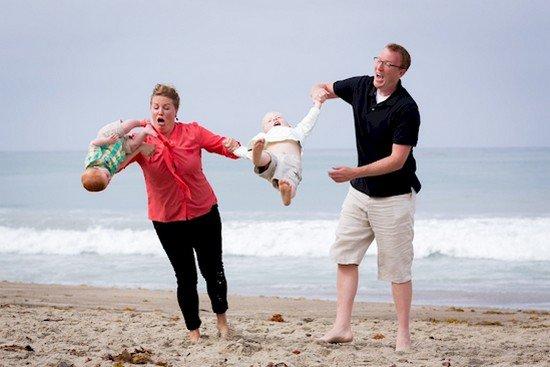 kids falling beach problem