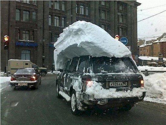 lazy car snow
