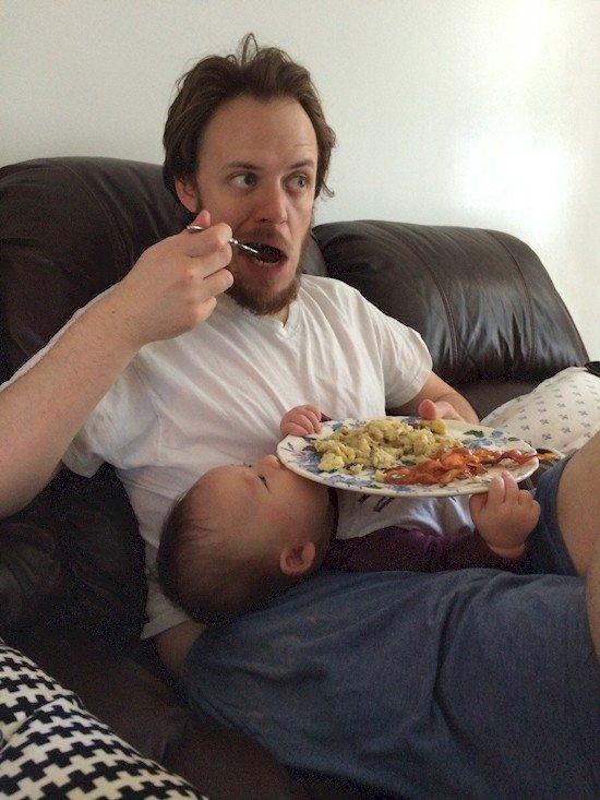 lazy guy baby