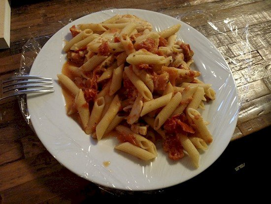 lazy pasta plate