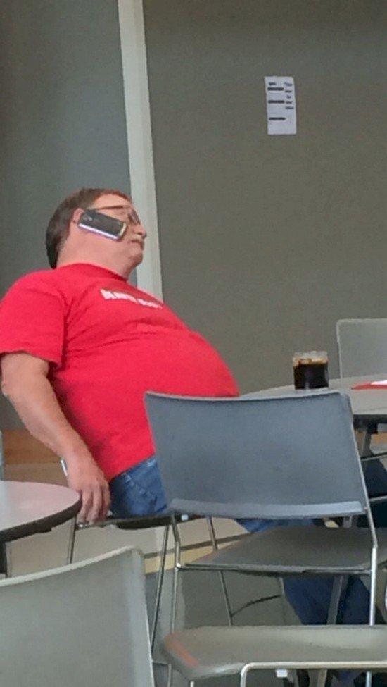 lazy phone guy
