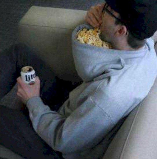lazy popcorn