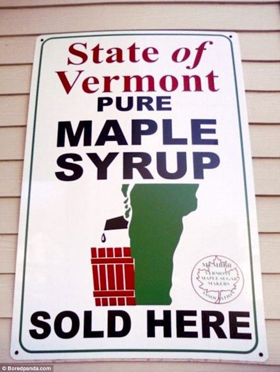 maple syrup poster fail